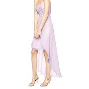 David's Bridal Iris Light Purple bridesmaid Dress